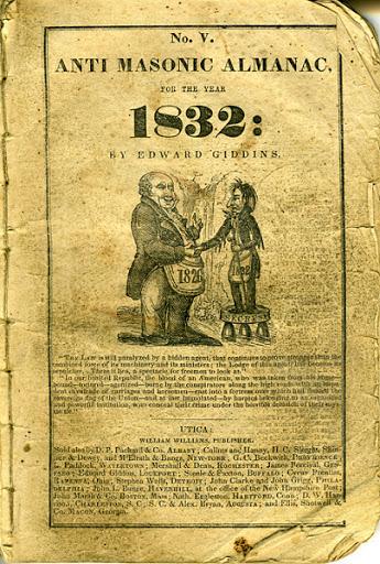 The cover of the Anti-Masonic Almanac
