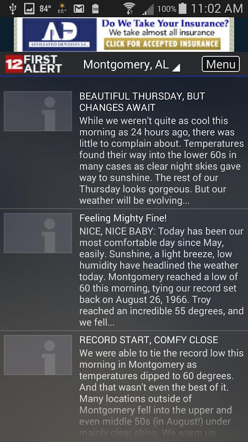 WSFA First Alert Weather- screenshot