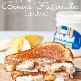 Grilled Banana Fluffernutter Sandwiches