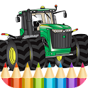 Tractors Coloring Pages Game icon