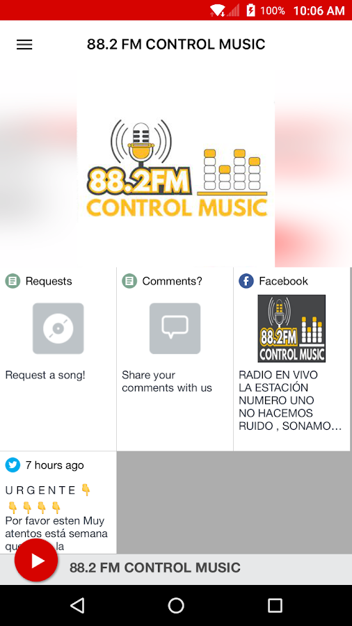 88.2 FM CONTROL MUSIC- screenshot