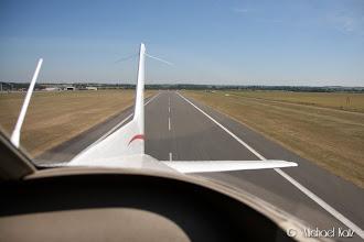 Photo: Take-off Duxford RWY 24