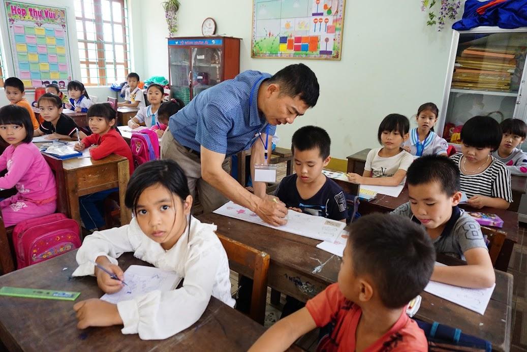 Giờ học tại Trường Tiểu học Hợp Thành, huyện Yên Thành