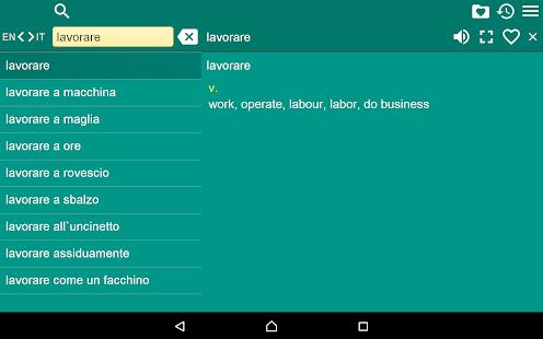 English Italian Dictionary Fr- screenshot thumbnail