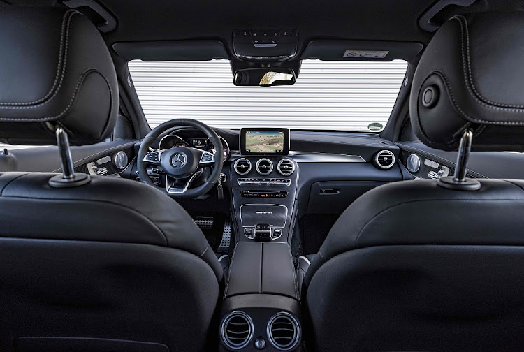 The interior gets the full AMG treatment. Picture: DAIMLER