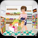 Supermarket Cashier Girl icon