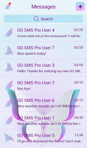 GO SMS Butterflies Theme