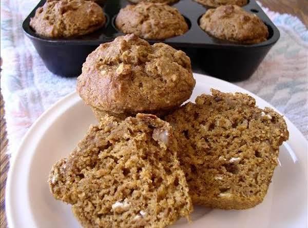 Healthy Pumpkin Banana Nut Muffins Recipe