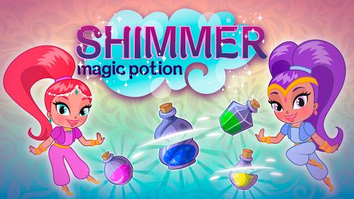 Magic potion shimmer