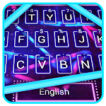 Neon Blue Red Lights keyboard Theme Icon
