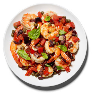 Sautéed Shrimp With Capers and Olives