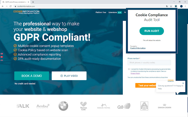 Cookie Compliance Audit Tool