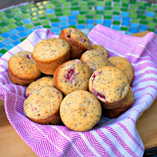 Raspberry Lemon Poppy Seed Muffins.