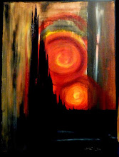 Photo: 006 THE TOUCH OF WRATH ~ ДОТИК ГНІВУ Luba Bilash original mixed media canvas $90