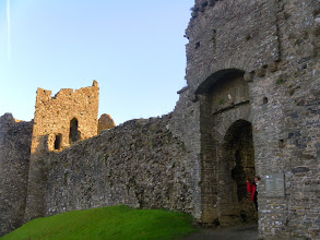 Photo: After Cawl and Mince Pies (thanks to Phil's wife), we had an impromptu club trip to Llanstephan Castle
