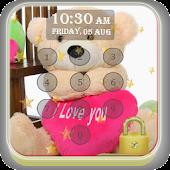 Teddy Bear Pin Lock Screen