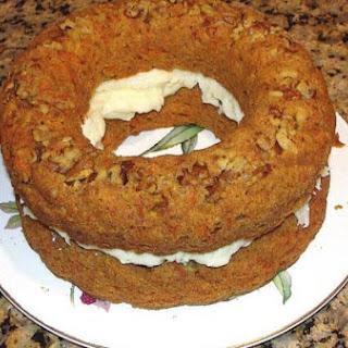 Carrot Cake With Mascarpone Maple Cream.