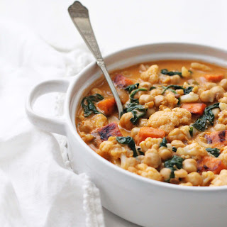 Chickpea Sweet Potato Coconut Curry Bowl.