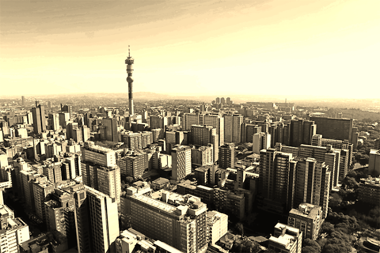 A view of Hillbrow from a flat in Ponte Towers, Johannesburg. Picture: THE TIMES