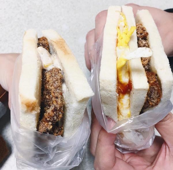 桃園市回訪n次超級好吃豬排三明治-明峯早餐店
