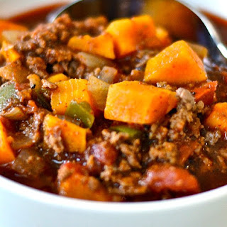 Sweet Potato Ground Beef Chili