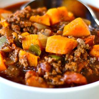 Sweet Potato Ground Beef Chili.