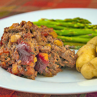 Succulent Gluten-Free Meatloaf with Vegetables.