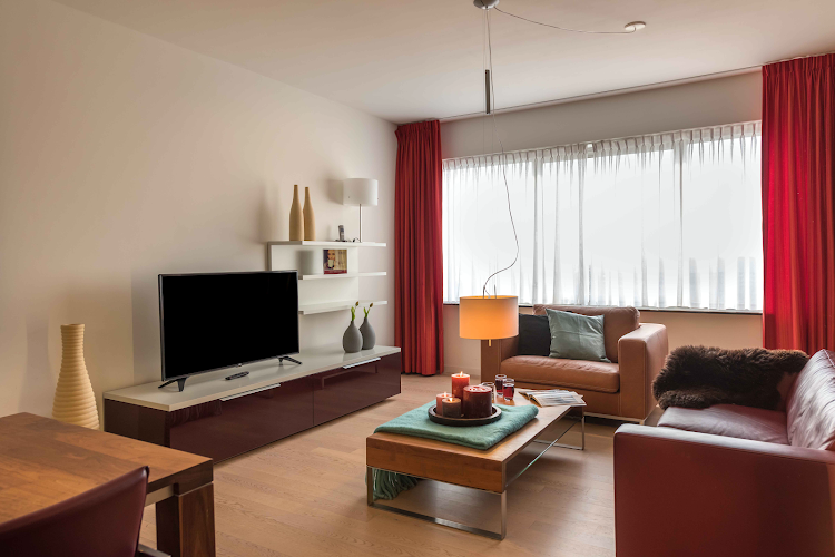 Living room at Amstelveen apartment