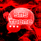 Red Smoke Theme GO SMS PRO icon
