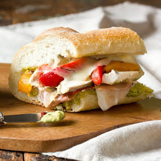 Roasted Red Pepper, Chicken, and Mozzarella Sandwich.