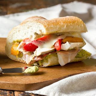 Roasted Red Pepper, Chicken, and Mozzarella Sandwich.