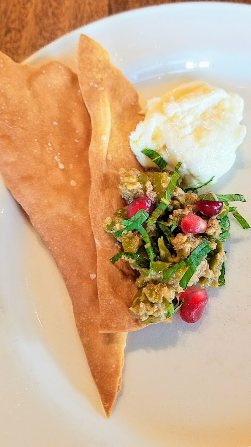 Breaking Bread luncheon with Meadowlark PDX and Nostrana to benefit the Cascade AIDs Project (CAP) with a luncheon featuring Iranian cuisine: panir & zytoon parvardeh, whipped feta and olive-pomegranate-walnut spread, served with housemade lavash crackers