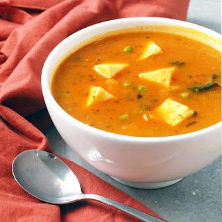 Slow Cooker Sweet Potato Paneer Curry.