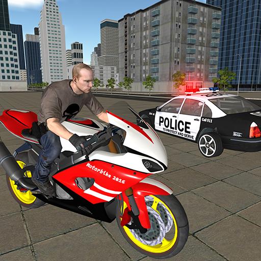 Condução De Bicicleta: Jogo De Fuga E Polícia