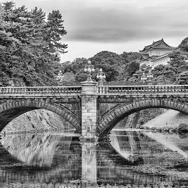 Bridge View by Sue Matsunaga - Black & White Buildings & Architecture