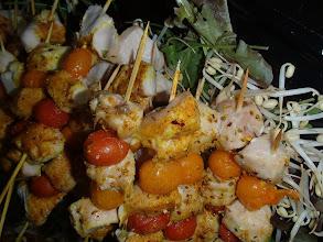 Photo: Brochettes de poulet aux épices douces