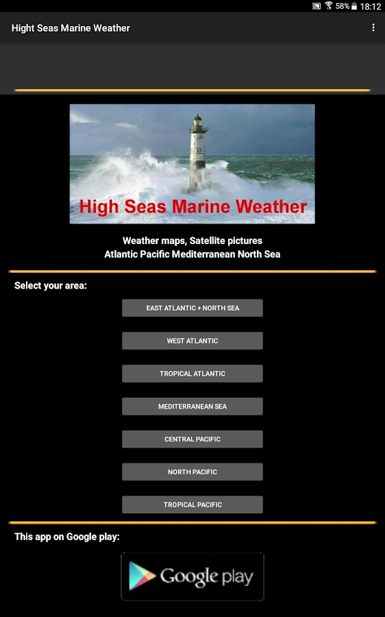 High Sea Marine Forecast- screenshot