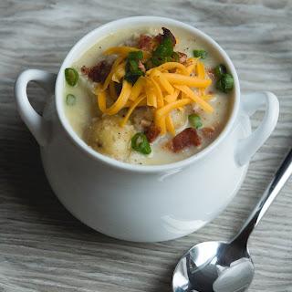 Roasted Cauliflower and Potato Soup.