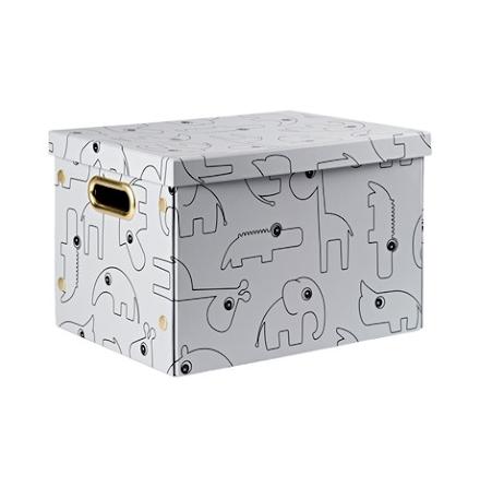 Folding Storage box Contour grey