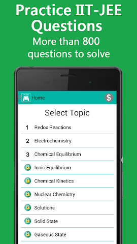 android IIT JEE 2016 Chemistry Screenshot 1