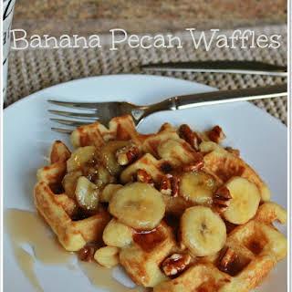 Banana Nut Waffles.
