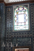 Photo: Day 115 - Window with Ottomon Script Below in The Rustem Pasa Mosque