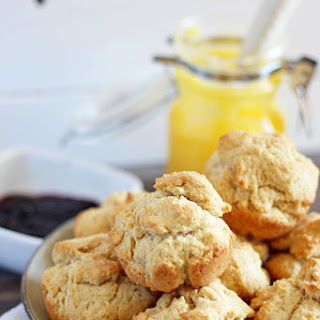 Ghee Breakfast Biscuits + Grape Preserve.