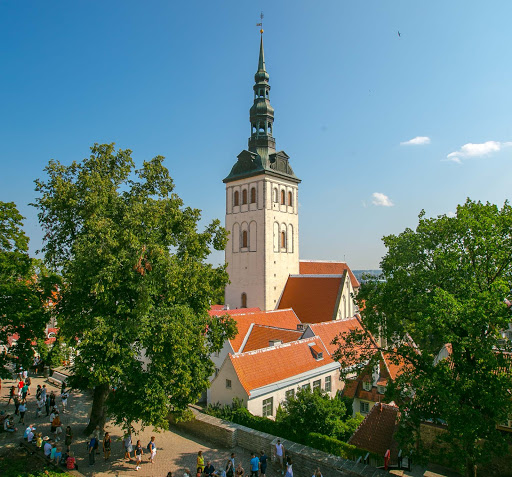 tallinn-steeple.jpg - St. Nicholas Church and Museum towers over Old Tallinn, Estonia.