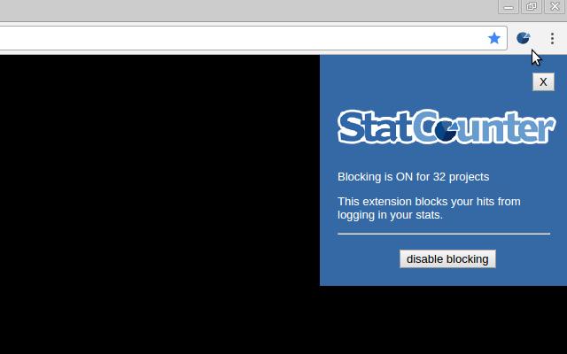 StatCounter Blocking Extension