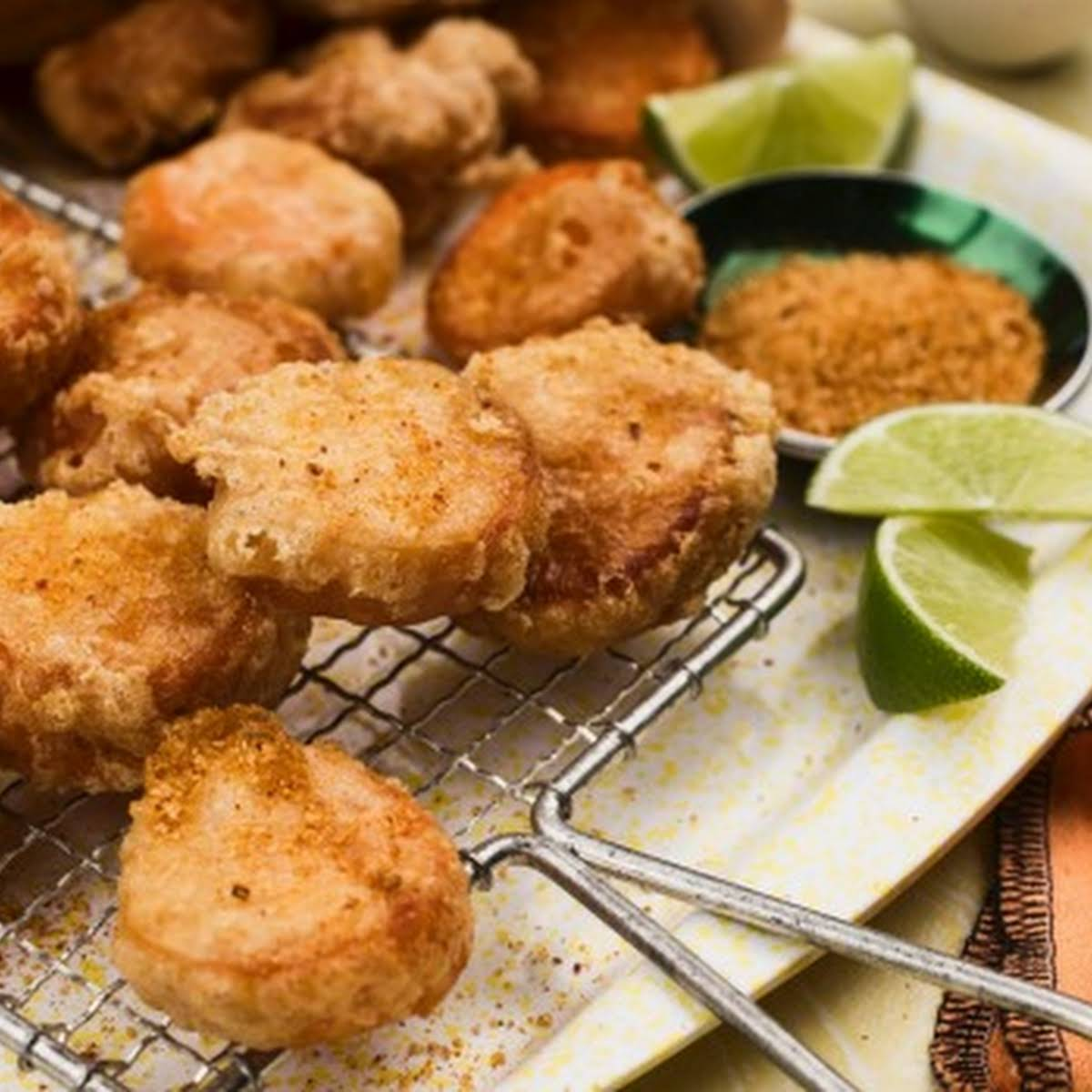 Sweet Potato Fritters With Spicy Chicken Salt