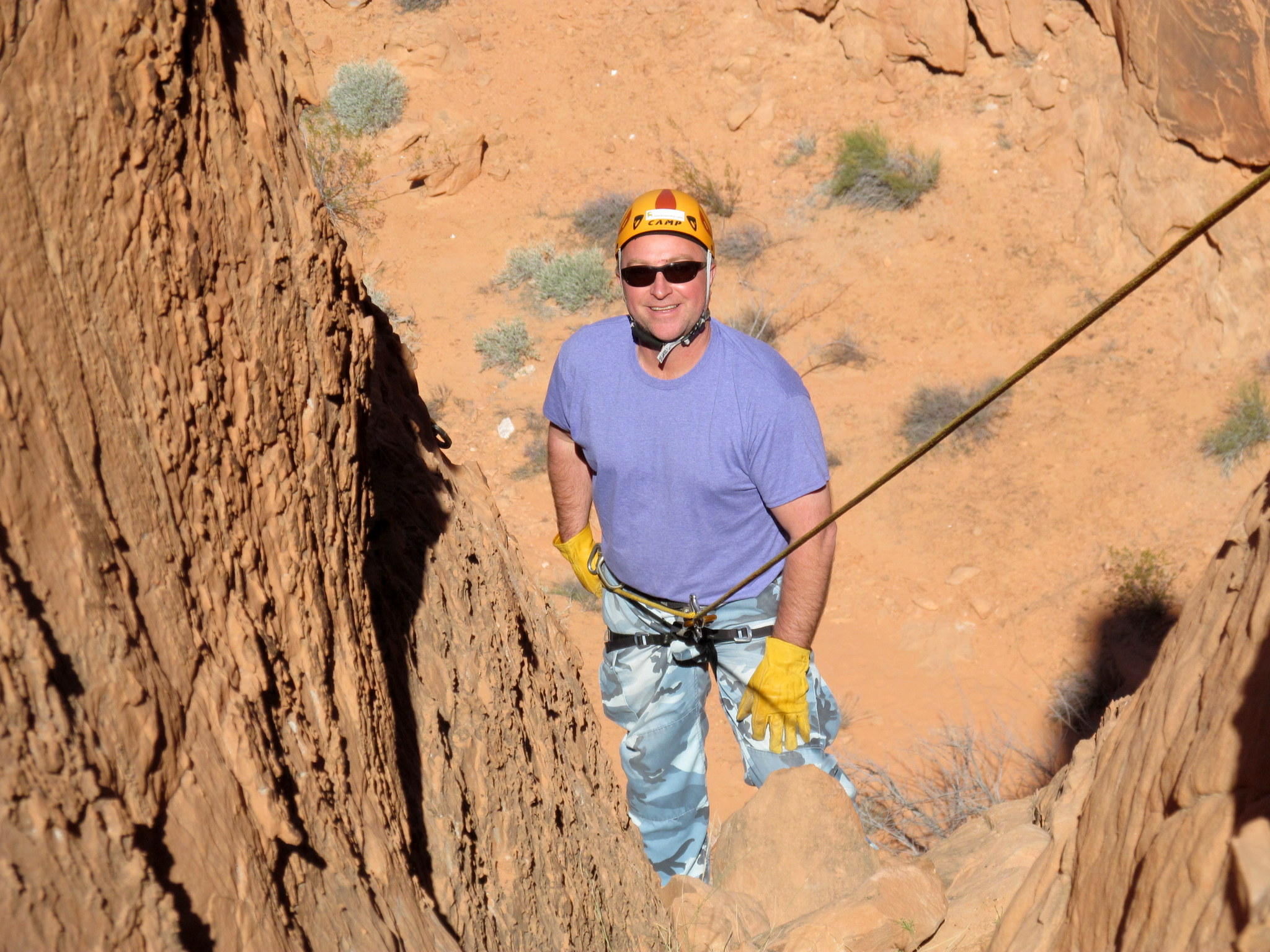 Photo: Eric on rappel