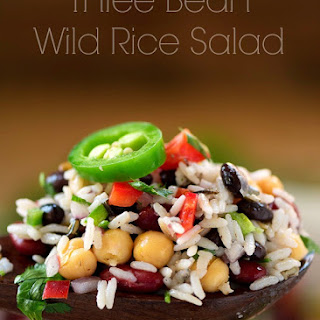Three Bean Wild Rice Salad