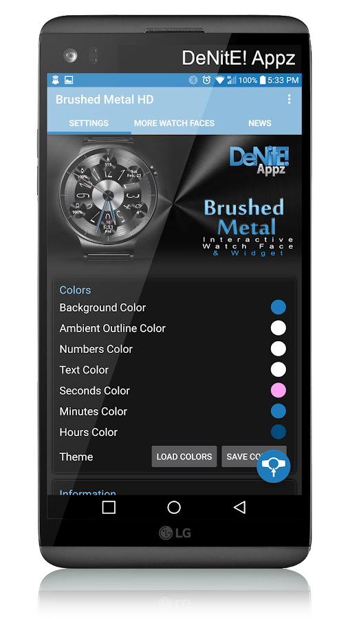 Brushed Metal HD Watch Face- screenshot