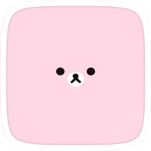 Cute Bear Love Pink Theme